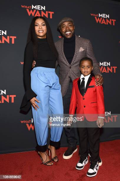 Taraji P Henson Will Packer and Auston Jon Moore attend a special screening of 'What Men Want' at Regal Atlantic Station on January 18 2019 in...