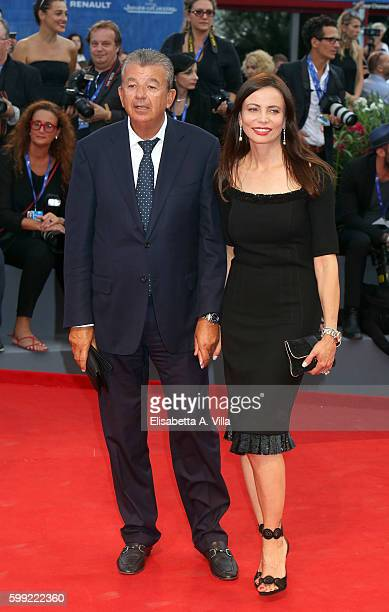 Tarak and Beata Ben Ammar attend the premiere of 'Hacksaw Ridge' during the 73rd Venice Film Festival at Sala Grande on September 4 2016 in Venice...