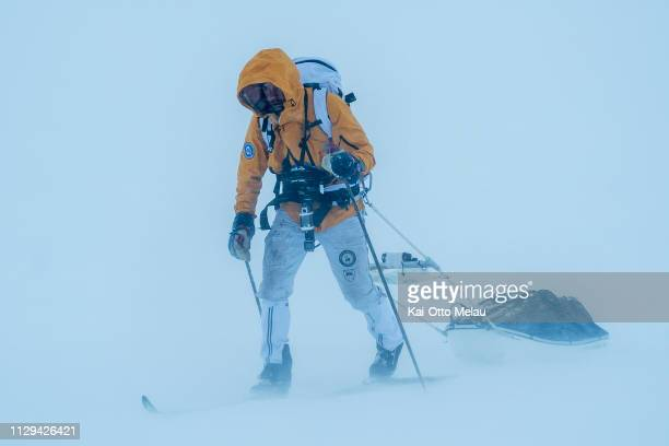 Tarald Kleppa Ovrebo at Expedition Amundsen on March 7 2019 in Eidfjord Norway Expedition Amundsen is known as the world's hardest expedition race...