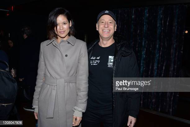 Tarale Wulff and David Rabin attend New York Premiere Of The Social Ones After Party at Alphabet Bar at Moxy East Village on March 3 2020 in New York...