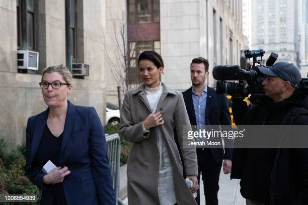 Tarale Wulff leaves New York Criminal Court following the sentencing of Hollywood mogul Harvey Weinstein on March 11 2020 in New York City Harvey...