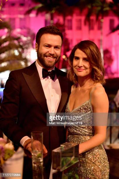 Taran Killam and Cobie Smulders attend the 2019 Vanity Fair Oscar Party hosted by Radhika Jones at Wallis Annenberg Center for the Performing Arts on...