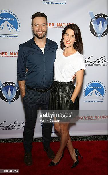 Taran Killam and Cobie Smulders attend the 'Brother Nature' New York Premiere at Regal EWalk 13 on September 7 2016 in New York City