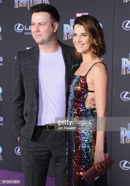 Taran Killam and Cobie Smulders attend the Los Angeles Premiere 'Black Panther' at Dolby Theatre on January 29 2018 in Hollywood California