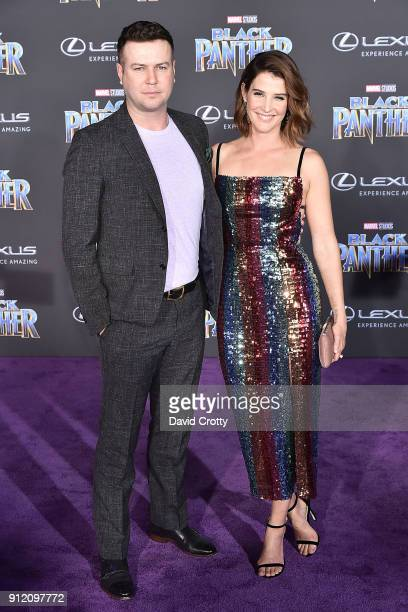 Taran Killam and Cobie Smulders attend the Premiere Of Disney And Marvel's 'Black Panther' Arrivals on January 29 2018 in Hollywood California