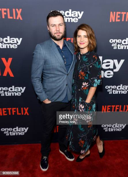 "Taran Killam and Cobie Smulders attends Netflix's ""One Day at a Time"" Season 2 Event at ArcLight Hollywood on January 24, 2018 in Hollywood,..."
