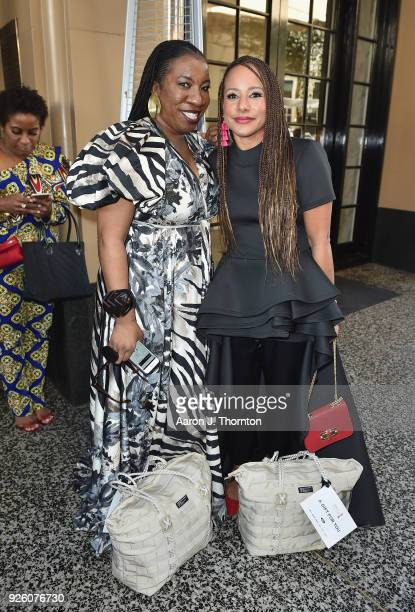 Tarana Burke and Amy Dubois Barnett attends the 2018 Essence Black Women In Hollywood Oscars Luncheon at Regent Beverly Wilshire Hotel on March 1...