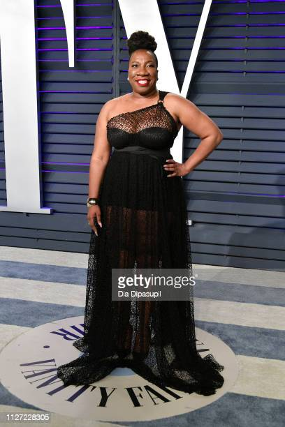 Tarana Burke attends the 2019 Vanity Fair Oscar Party hosted by Radhika Jones at Wallis Annenberg Center for the Performing Arts on February 24 2019...