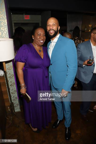 Tarana Burkea Common attend Common's 5th Annual Toast to the Arts at Ysabel on February 22 2019 in West Hollywood California