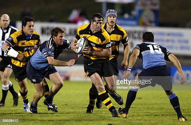 Taranaki's Gordon Slater in action during the NPC rugby match between Northland and Taranaki played at the ITM Stadium Whangarei New Zealand...