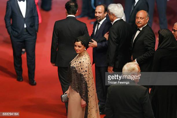 Taraneh Alidoosti attends 'The Salesman ' Premiere during the 69th annual Cannes Film Festival at the Palais des Festivals on May 21 2016 in Cannes...