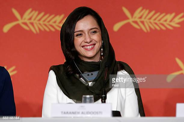 Taraneh Alidoosti attends 'The Salesman ' Press Conference during the 69th annual Cannes Film Festival at the Palais des Festivals on May 21 2016 in...
