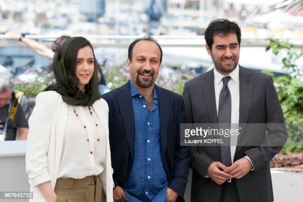 Taraneh Alidoosti director Asghar Farhadi and Shahab Hosseini attend the 'The Salesman ' Photocall during the 69th annual Cannes Film Festival on May...