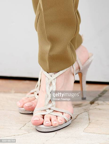 Taraneh Alidoosti shoe detail attends 'The Salesman ' Photocall during the 69th annual Cannes Film Festival at the Palais des Festivals on May 21...