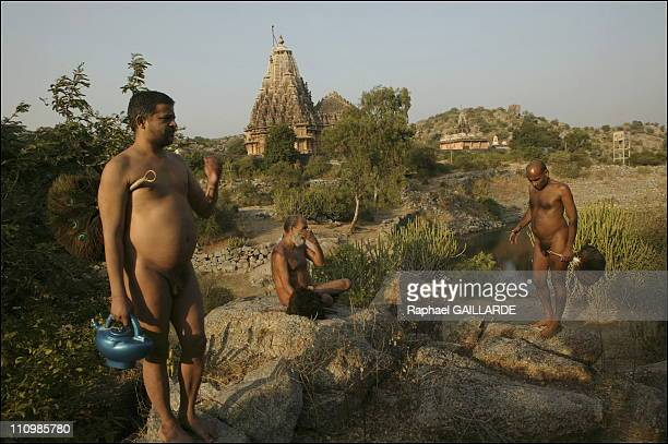Taranga temple These Jain Digambara monks are clad in sky in other words naked As the day ends they head for hills close to the temple to mediate...