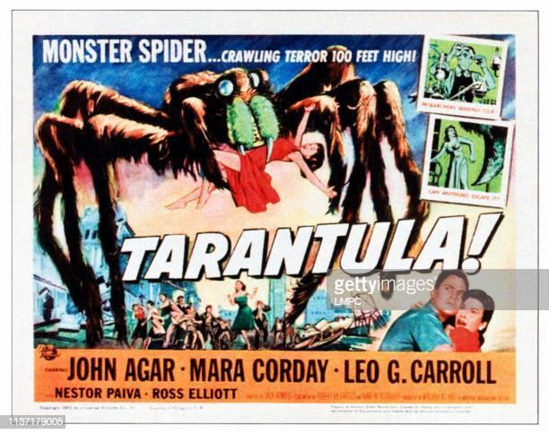 Tarantula lobbycard lower right from left John Agar Mara Corday on title lobbycard 1955