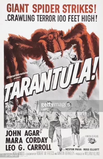 Tarantula poster US poster art bottom from left John Agar Mara Corday 1955