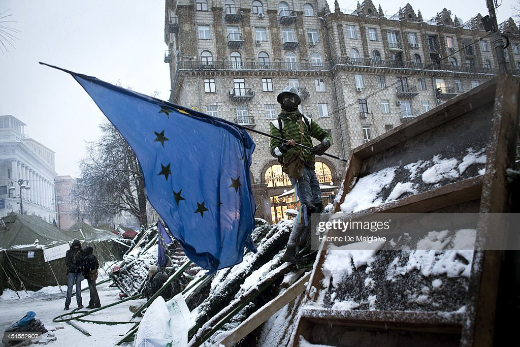 Thousands Protest In Kiev As They Call On Government Leaders To Resign : News Photo