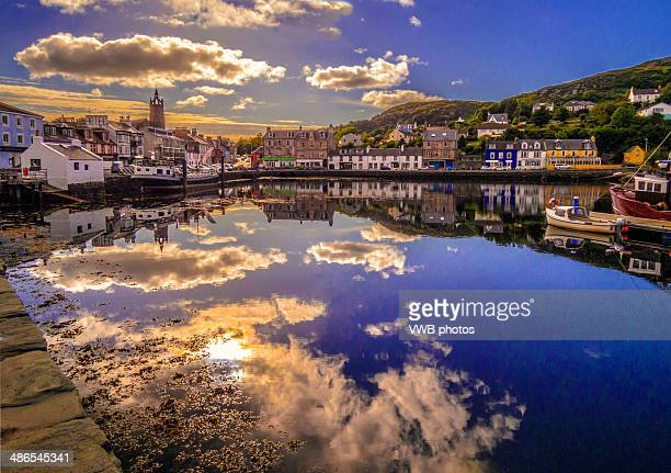 Tarbert Harbour at sunset, Kintyre