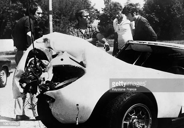 Tarbes Johnny Hallyday' Car After His Accident In August 1967