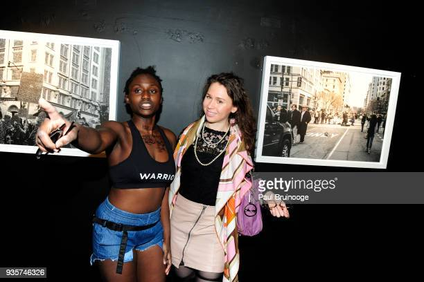 Tardy Pee and Anna Mikaela Ekstrand attend the SPRING/BREAK Collectors Press Preview at 4 Times Square on March 6 2018 in New York City