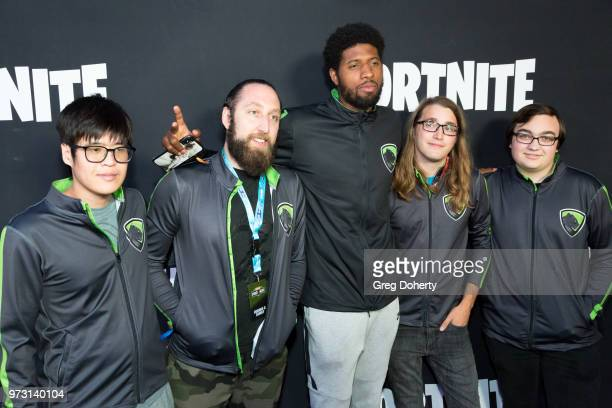 Tarei Neverender Paul George Lead Paint and Killinalday attend the Epic Games Hosts Fortnite Party Royale on June 12 2018 in Los Angeles California