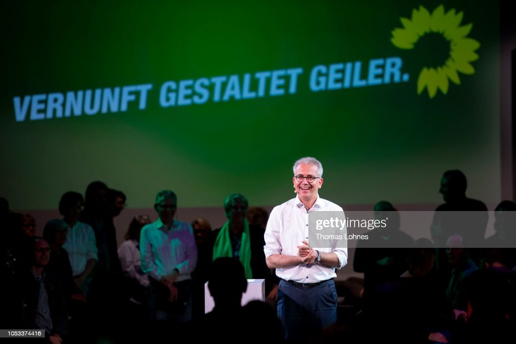 Greens Party Campaigns In Hesse State Elections : Nieuwsfoto's