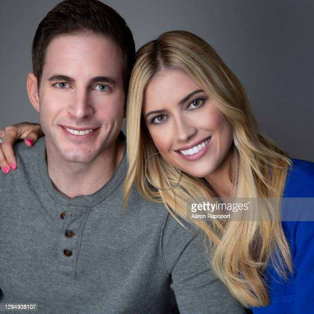 Tarek and Christina El Moussa of HGTV's 'Flip or Flop' Portrait Session in Los Angeles, California.