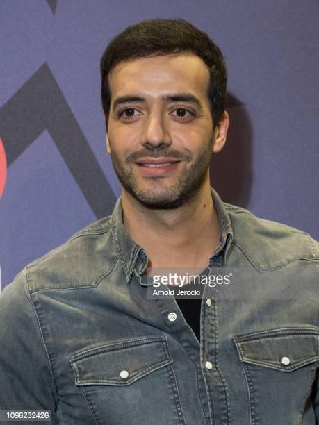 Tarek Boudali attends 'Nicky Larson et le parfum de Cupidon' premiere during the 22nd L'Alpe D'Huez International Comedy Film Festival on January 18...