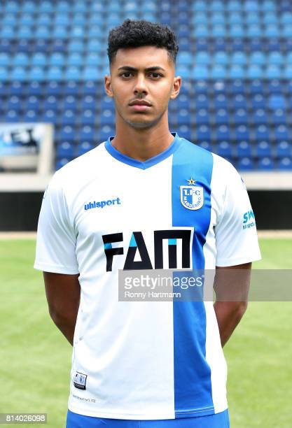 Tarek Chahed poses during the team presentation of 1 FC Magdeburg at MDCCArena on July 13 2017 in Magdeburg Germany