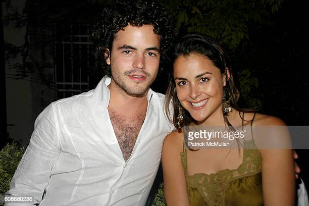 Tarek Echeverria and Alinka Echeverria attend THOMAS KRENS Hosts The Dinner In Honor Of Janna Bullock at Venice on June 8 2007 in Venice Italy