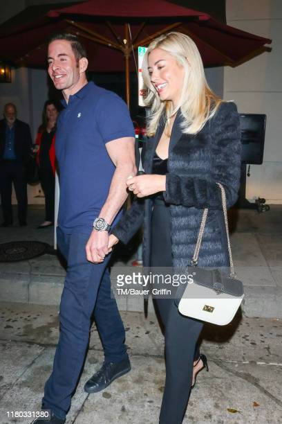 Tarek El Moussa and Heather Rae Young are seen on November 05 2019 in Los Angeles California