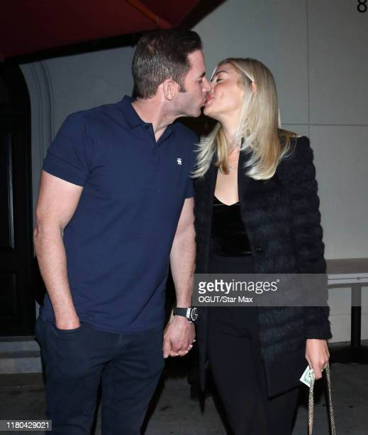 Tarek El Moussa and Heather Rae Young are seen on November 5 2019 in Los Angeles California