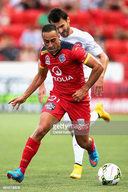 Tarek Elrich of United controls the ball during the round 18 ALeague match between Adelaide United and Western Sydney Wanderers at Coopers Stadium on...