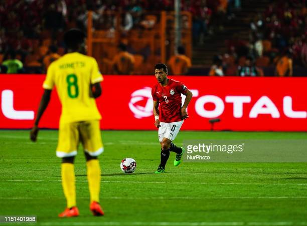 Tarek Hamed of Egypt during the African Cup of Nations match between Egypt and Zimbabwe at the Cairo International Stadium in Cairo Egypt on June...