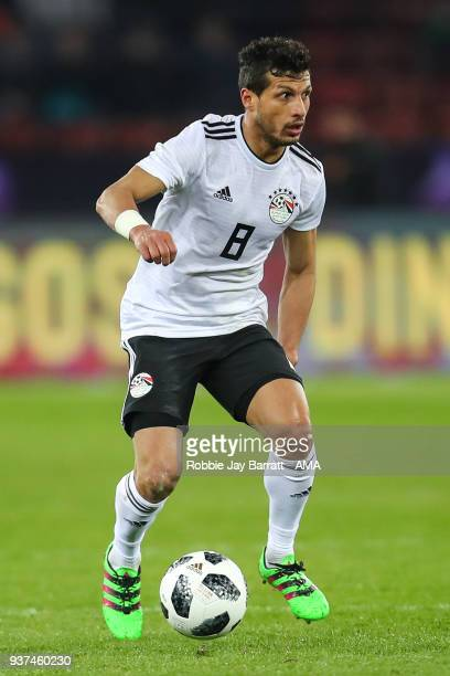 Tarek Hamed of Egypt during the International Friendly match between Portugal and Egypt at Stadion Letzigrund on March 23 2018 in Zurich Switzerland