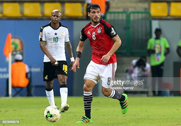 Tarek Hamed of Egypt in action during the African Cup of Nations 2017 Group D football match between Ghana and Egypt in PortGentil Gabon on January...