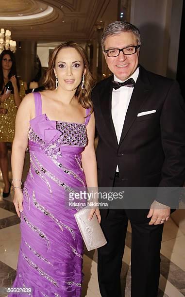 Tarek Mourad with wife arrive at the launch of the Four Seasons Hotel Baku on November 17 2012 in Baku Azerbaijan