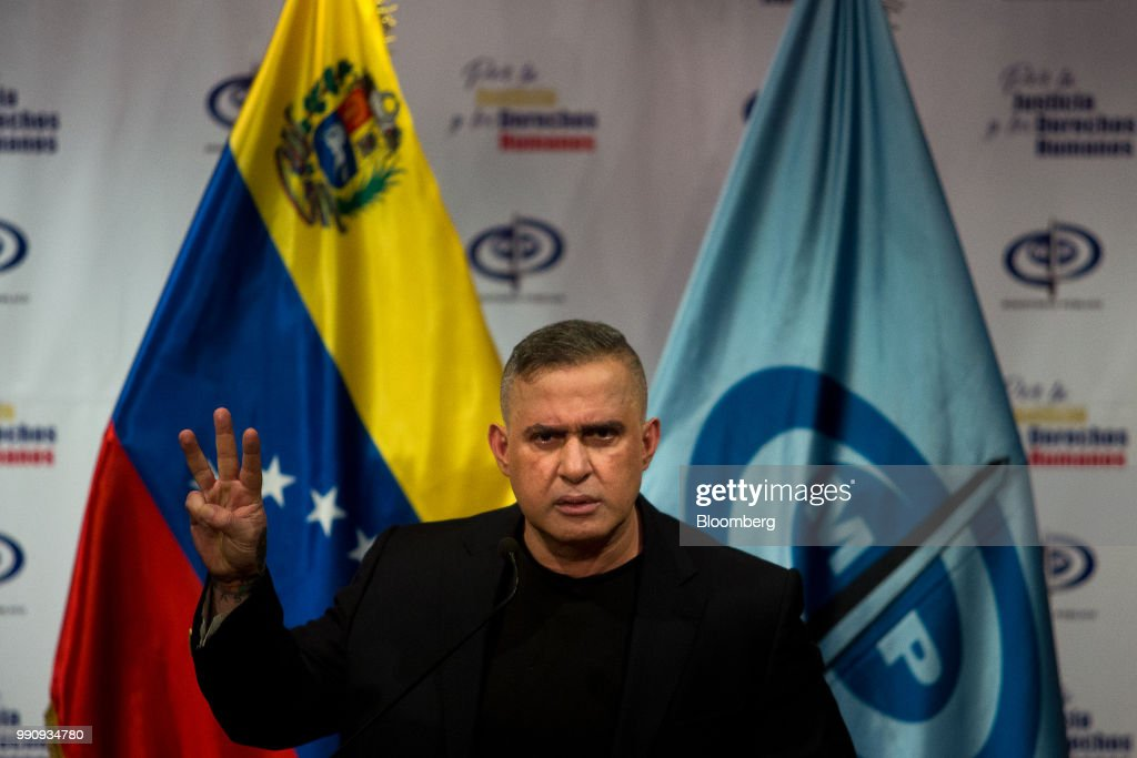 Venezuela's Chief Prosecutor Tarek William Saab Holds Press Conference On Initiatives In Corruption Cases