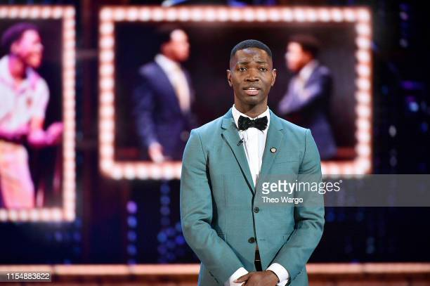 Tarell Alvin McCraney presents an award onstage during the 2019 Tony Awards at Radio City Music Hall on June 9 2019 in New York City
