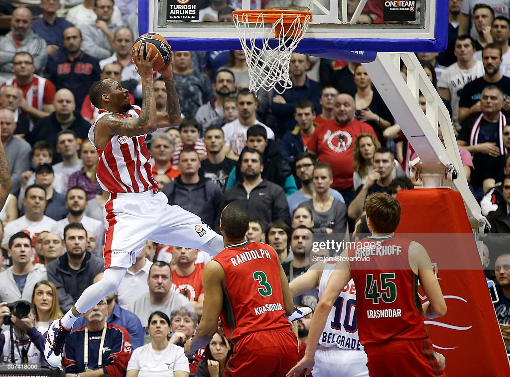 Tarence Kinsey Of Crvena Zvezda Belgrade In Action Against Antony News Photo Getty Images