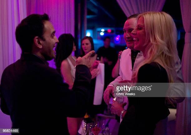 Tareq Salahi Michaele Salahi the White House party crashers and guests attend Pure Nightclub on January 16 2010 in Las Vegas Nevada