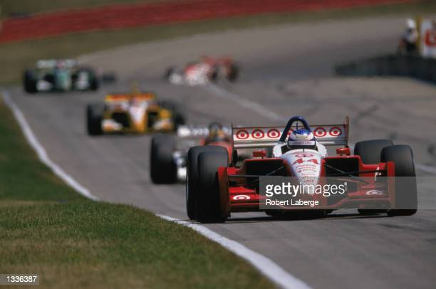 Target Chip Ganassi Racing driver Scott Dixon drives his Toyota Lola during practice for the CART Grand Prix of MidOhio round 11 of the CART Fed Ex...