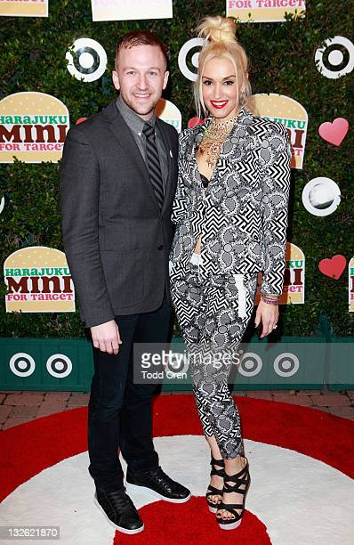 Target Director Brian Robinson and singer Gwen Stefani attend Gwen Stefani's launch of her Harajuku Mini for Target Collection at Jim Henson Studios...