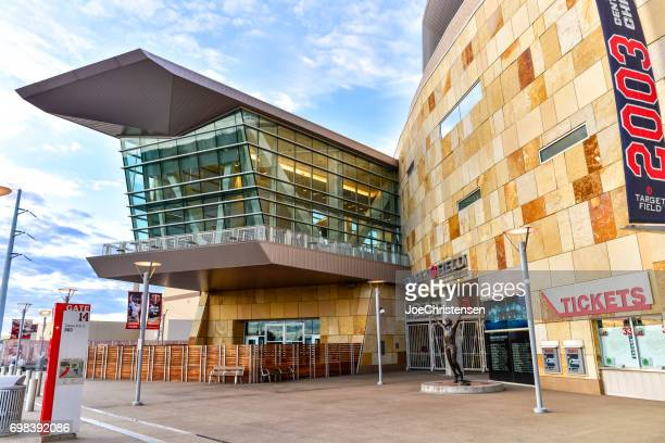 target field home of the minnesota twins in minneapolis. - target field minneapolis stock pictures, royalty-free photos & images