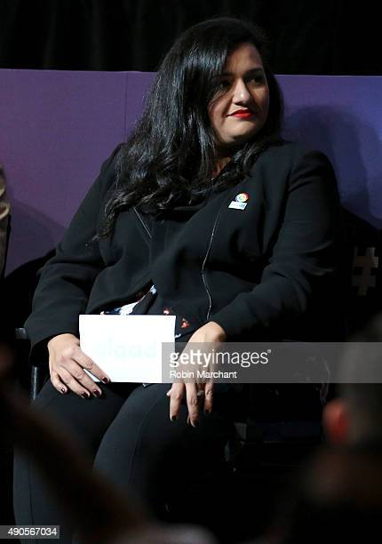Target Group Manager of Brand Marketing Multicultural and Corporate Social Responsibility Nydia Sahagun speaks onstage at the GLAAD Amplified LGBT...