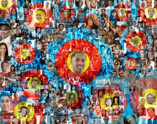 targeted social media connections - demography stock pictures, royalty-free photos & images