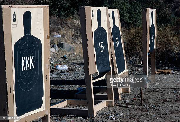 targets for target practice - nazi swastika stock pictures, royalty-free photos & images