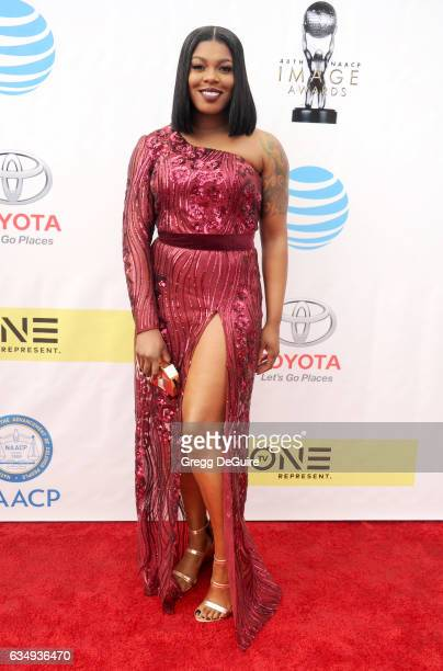 Ta'Rhonda Jones arrives at the 48th NAACP Image Awards at Pasadena Civic Auditorium on February 11 2017 in Pasadena California