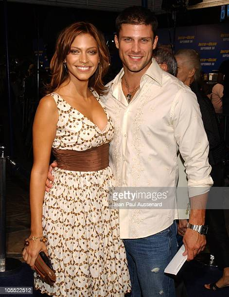 Taria Houd and Greg Vaughan during MGM Pictures and Columbia Pictures Into the Blue Premiere Arrivals at Mann Village Theatre in Westwood California...